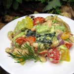 Roasted Vegetable Salad with Dill Dressing