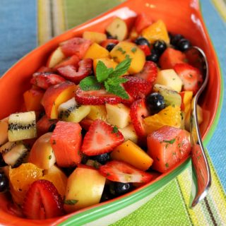 Fruit Salad with Fresh Mint