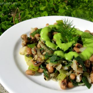 Hoppin' John with Avocado-Cucumber Dressing
