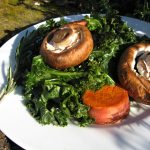 Rosemary Mushrooms and Kale1
