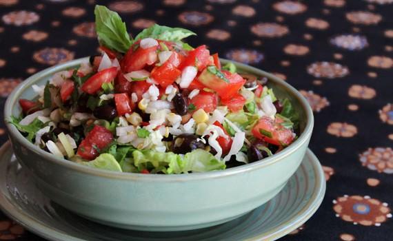 Burrito Bowl with Guacamole and Salsa