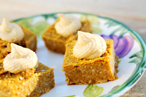 Pumpkin Pie Squares - Straight Up Food