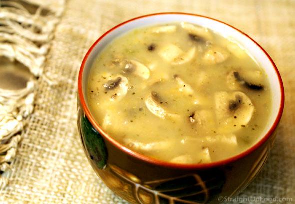 Creamy Mushroom Soup - Straight Up Food