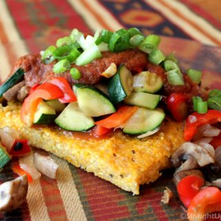Quinoa-Polenta & BBQ Sauce