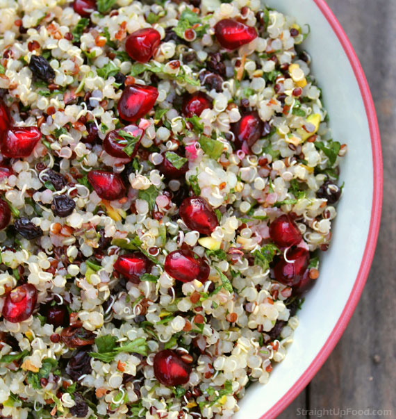 Quinoa Salad with Currants and Pistachios - Straight Up Food