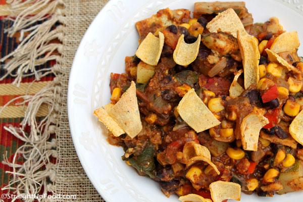 Enchilada Casserole from StraightUpFood.com