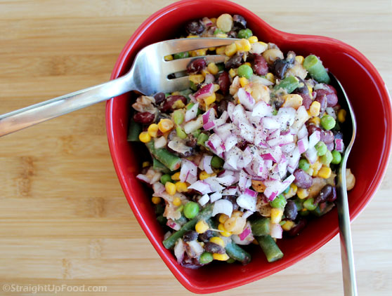 Four Bean Salad - StraightUpFood.com