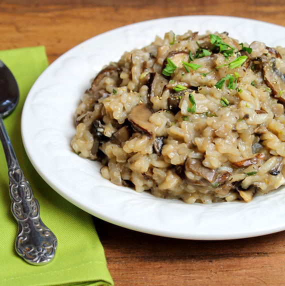 Mushroom Risotto - Straight Up Food