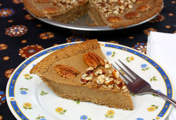 Sweet Potato-Pecan Pie - Straight Up Food