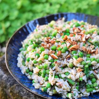 Rice Salad with Asparagus & Shiitake Mushrooms