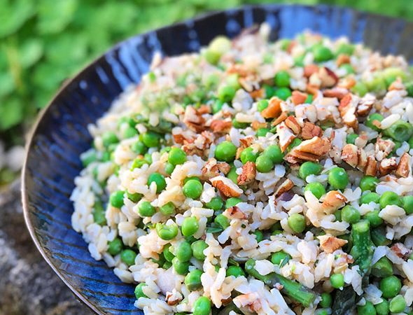 Straight up food healthy and delicious vegan recipes using no rice salad with asparagus shiitake mushrooms forumfinder Gallery