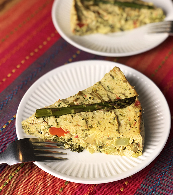 Vegetable Quiche Straight Up Food