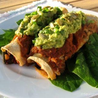 Greens & Beans Enchiladas