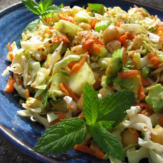 Cabbage Salad with Mustard-Lime Dressing
