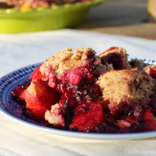 Blackberry–Peach Cobbler