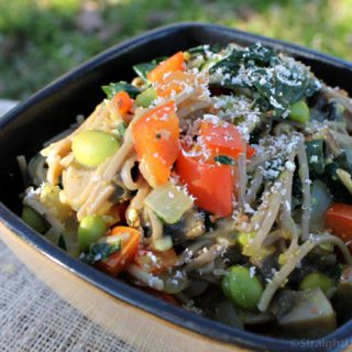 Portabella Mushrooms & Noodles