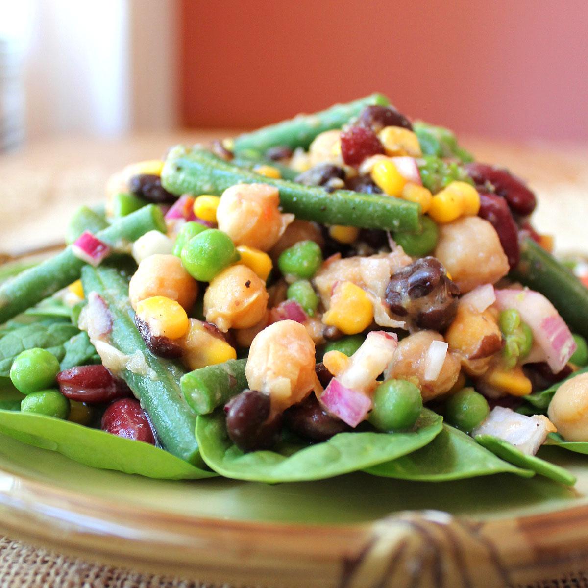 4 Bean Salad Straight Up Food