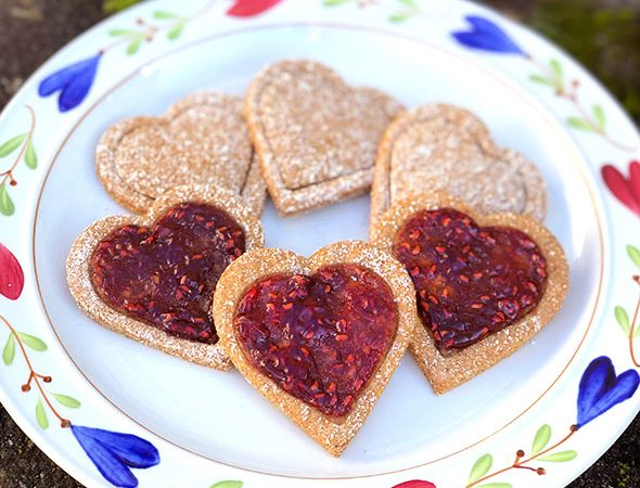 Ginger Heart Cookies by Straight Up Food