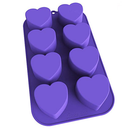 Silicone Mini Heart Pan Straight Up Food